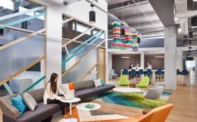 美国Bazaarvoice活力时尚的总部办公大楼装修设计