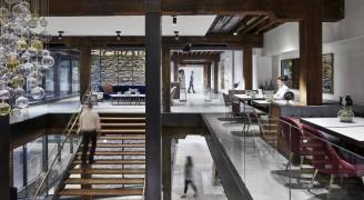 高贵典雅的办公室设计,让人仿佛置身咖啡厅和博物馆