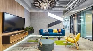 世界500强企业埃森哲创意办公室:丰富多彩,自由人性化