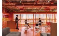 数字安全公司Axur办公室设计:活力橙色打造绚丽空间