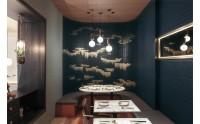 曼哈顿中式设计餐厅:古典插画与自然色彩的结合
