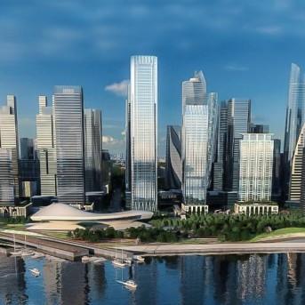 康蓝建设分享前海湾恒裕金融中心写字楼设计作品